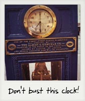 Don't bust this clock!