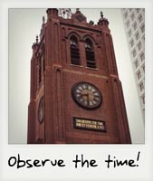 Observe the time!