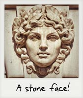 A stone face!