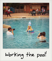 Working the pool!