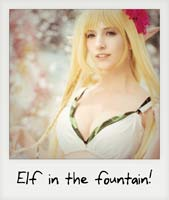 Elf in the fountain!