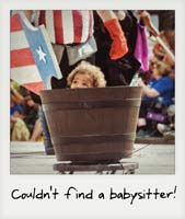 Couldn't find a babysitter!