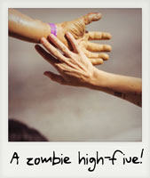 Zombie high-five!