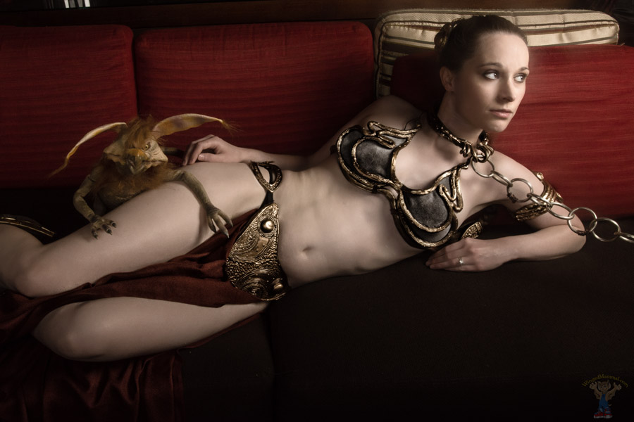 Cum join the dark side and see slave leia cum for her master